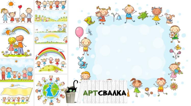 картинки рисованные с детьми